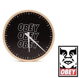 OBEY オベイ Jumble Stacks Clock 壁掛け時計 SKATE スケート ストリート 日用品 プレゼント 贈り物