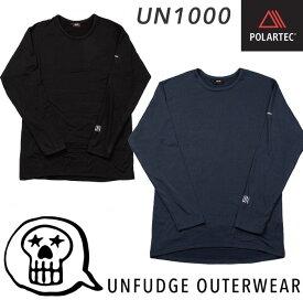 unfudge アンファッジ 21-22モデル Crew Neck Underwear ミッドレイヤー UN1000 インナー POLARTEC ポーラーテック スノーボード スキー 雪山 アウトドア バックカントリー SNOW BLACK NAVY