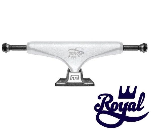 【送料無料】ROYAL ロイヤル CLASSIC CROWN STANDARD TRUCK トラック SKATEBOARD スケボー スケートボード スタンダード WHITE/SILVER [5.0 Low]