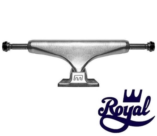 【送料無料】ROYAL ロイヤル TRUCK RAW STANDARD TRUCK トラック SKATEBOARD スケボー スケートボード スタンダード SILVER [5.25 Low]
