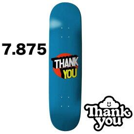 THANK YOU SKATEBOARDS サンキュー SPOT ON TEAL 7.875inc デッキ DECK skate スケボー スケートボード