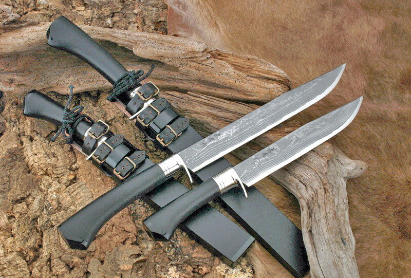 【関兼常】 関伝古式和鋼製錬 龍神火造匠・両刃・漆石目 270mm CW-6