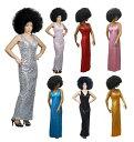 スパンコール ロングドレス 大きめサイズ SMサイズ MLサイズ ホワイト ピンク ゴールド ブルー 送料無料