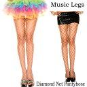 ポイント16倍 ミュージックレッグス Music Legs ストッキング 網 アミタイツ パンティホース フェンスネット ブラック・ホワイト