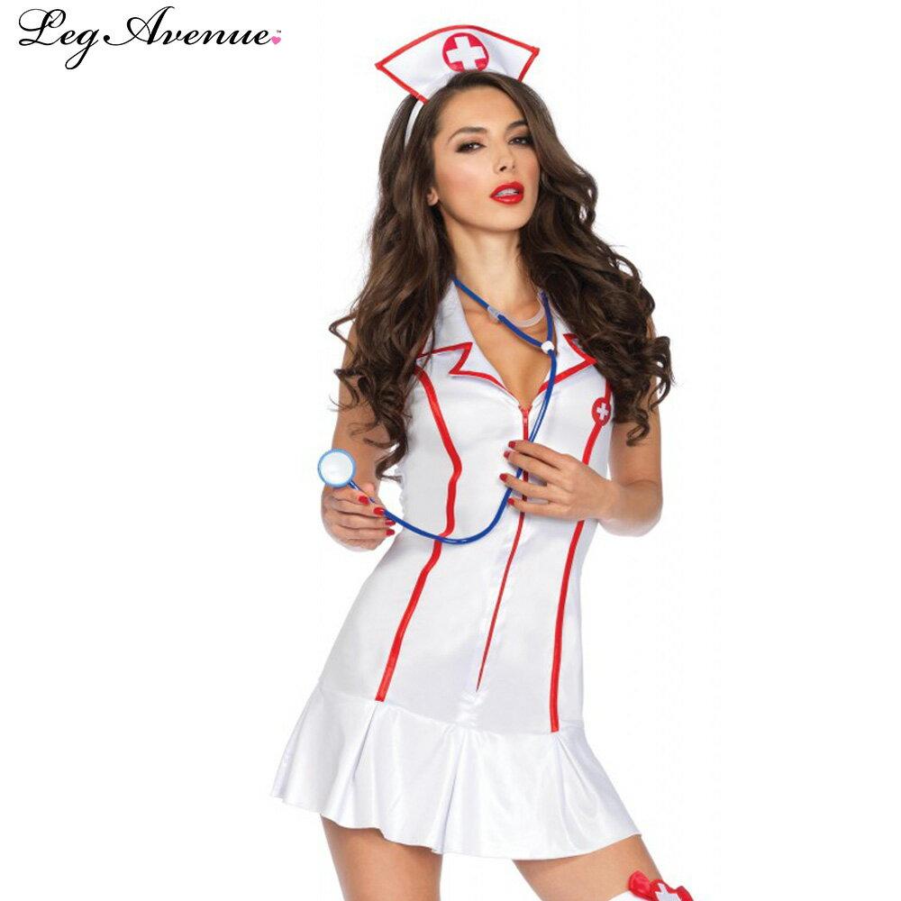 ポイント16倍 レッグアベニュー Leg Avenue 看護婦 ナース コスチューム コスプレ SM(9号) ML(11号)XL(13号)