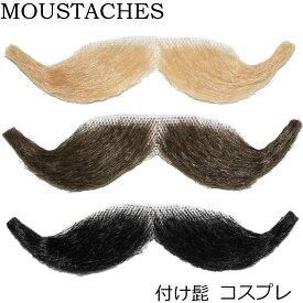 ポイント16倍 付け髭 髭 メンズ コスプレ ハロウィン コスチューム ブロンド ブラウン ブラック アメリカ輸入