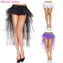 セール ボリューム スカート バーレスク ダンス 衣装 レイヤードチュール リボン付き ブラック ホワイト パープル