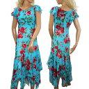 セール ワンピース ドレス ダンス 衣装 半袖 花柄 シルク 大きいサイズ Sサイズ Mサイズ 送料無料