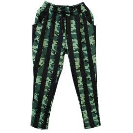 ポイント16倍 迷彩柄 ダンス 衣装 パンツ サルエル ダンスパンツ カモフラージュ 柄 レッド グリーン フリーサイズ