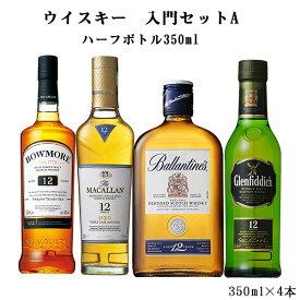 お中元 送料無料 ウイスキー 入門セットA 350ml×4本セット(北海道・沖縄+890円)