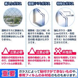 ガラスフィルム窓遮熱断熱飛散防止RSAシリーズシルバー調4種類から選択オーダーカット0.01平米単位販売透明平板ガラス内貼り用