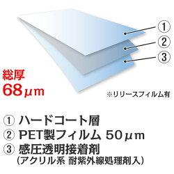 ガラスフィルム窓飛散防止怪我防止UVカットJIS飛散防止試験適合GS50Kオーダーカット販売0.01平米単位計算フォームで価格自動計算透明平板ガラス内貼り用