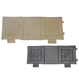 シーエー通商(CA-SANSHO) セカンドクッション ギャザーキルト ベージュ / ギャザーがオシャレ!セカンドタイプのカークッション。