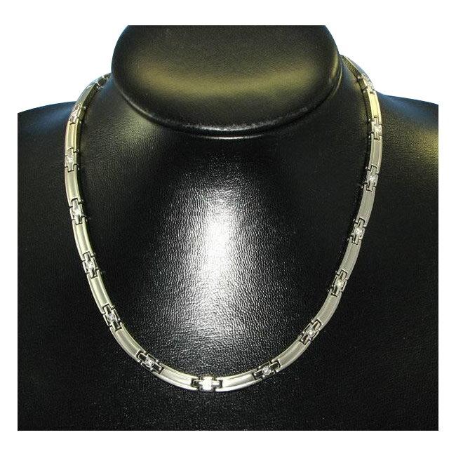 MARE(マーレ) スワロフスキー&ゲルマニウムネックレス PT/IP ミラー 138 0.55×45.5cm NTH1731-01 1053849 / スワロフスキーが輝くシンプルで上品なネックレス。