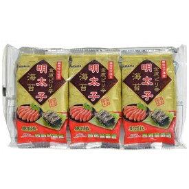 金原海苔店 韓国味付海苔 金原ピリ辛明太子海苔 (8切8枚×3P) 12個セット 1070197