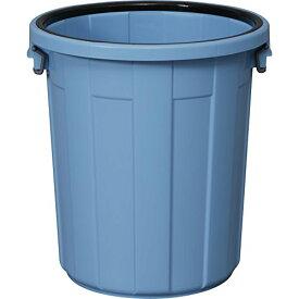 アイリスオーヤマ ゴミ箱 (本体のみ・フタ別売り) 丸型 ブルー 90L 直径55.6*高さ59.7cm PM-90 / インテリア インテリア小物 ゴミ箱 ごみ箱 トラッシュボックス 筒型