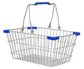 【 DULTON MARKET BASKET (S) CHR/BLU CH99-W04S/C/B 】 ワイヤーバスケット カゴ 籠 サニタリー キッチン バスルーム 洗濯かご おしゃれ シンプル ダルトン マーケットバスケット S クローム/ブルー