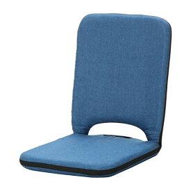 不二貿易 座椅子 薄型 2 PACK タイプ 取っ手 付 シオン インディゴ ブルー 65503