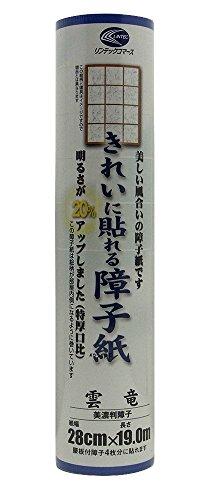 リンテックコマースきれいに貼れる障子紙28cmX19m雲竜SOJ-828