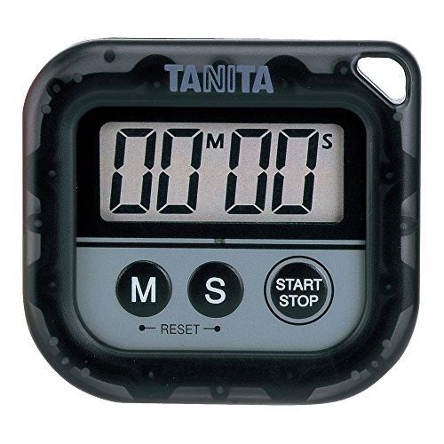 タニタ 丸洗いタイマー100分計 ブラック TD-376-BK