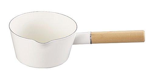 パール金属 アミィ ホーロー ミルクパン 15cm ホワイト HB-800