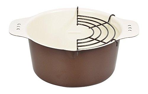 パール金属 プチクック 鉄製 天ぷら 鍋 16cm ブラウン 【日本製】 HB-2523
