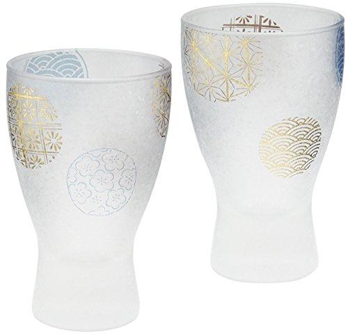 アデリア 日本酒グラス100mlペアセット プレミアム丸紋シリーズ S-6210