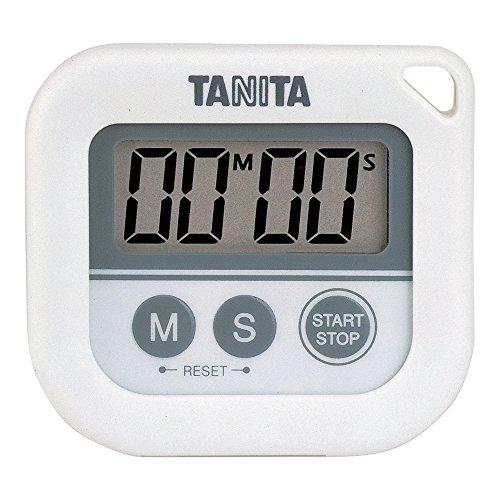 タニタ 丸洗いタイマー100分計 ホワイト TD-376-WH