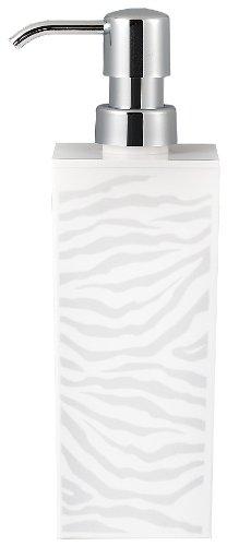 日本製 ゼブラ 角型 大 シール付 白 ディスペンサー詰め替えボトル(500ml) 白 -