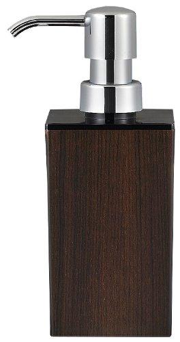 日本製 WOODY ウッディ 角型 小 ハンドソープ 黒×ウォルナット 13-450260