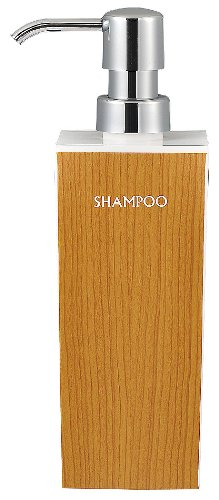 日本製 WOODY ウッディ 角型 大 シャンプー 白×マホガニー 13-450192