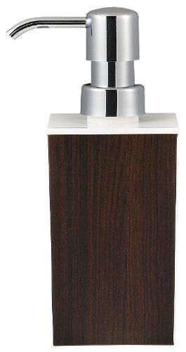 日本製 WOODY ウッディ 角型 小 ハンドソープ 白×ウォルナット 13-450307