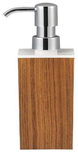 日本製 WOODY ウッディ 角型 小 ハンドソープ 白×チーク 13-450321