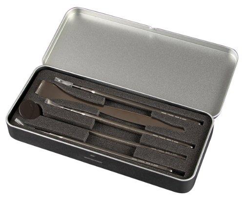ニッケン刃物 LIESA 5pデンタルツールセット(チタン製) TM-13000 / 軽くて安全なチタン製デンタルツールのセット!