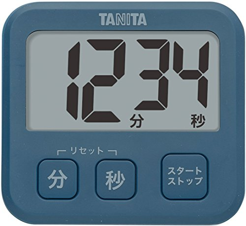 タニタ 薄型タイマー(厚さ9.5mm) ブルー TD-408-BL
