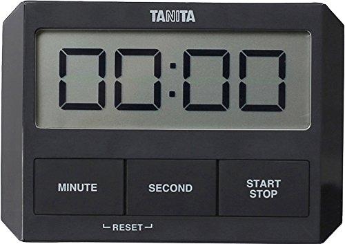 タニタ ガラスにつくタイマー ブラック TD-409-BK