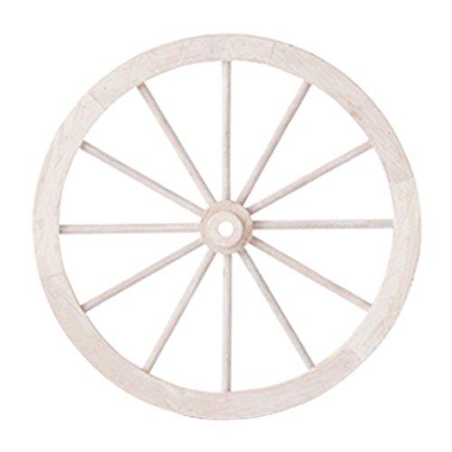 PL ウォールディスプレイ アンティーク調 木製車輪 IDYLLIC GARDEN ガーデンウィール M 直径45.5cm ホワイト 40878【2■80サイズ相当】