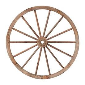 PL ウォールディスプレイ アンティーク調 木製車輪 IDYLLIC GARDEN ガーデンウィール L 直径62cm ブラウン 40879