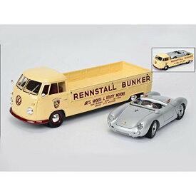 VW T1 レーシングカートランスポーター BUNKER/ポルシェ 550 Spyder セット/1/18/株式会社 国際貿易/450007700/4007864000777
