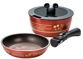 取っ手が外れる鍋&フライパン ミッキー ANFP2 37599 / ディズニー ミッキーマウス フライパン 鍋 セット 20cm 4973307375996 スケーター