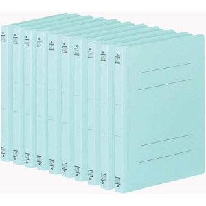 【10セット販売】コクヨ/フラットファイルV樹脂製とじ具B5縦 15mmとじ 青 フ−V11B/フ-V11B/4901480138787