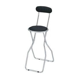 【6脚セット】フォールディングチェアパイプ椅子 パイプイス 折りたたみチェア 折りたたみチェアー 折り畳みチェア スチール チェア 省スペース スリムチェア スリムチェアー 椅子 いす イス ストック ★ カウンターチェア / KC-355T-BK ★