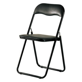 【4脚セット】PFC-9S(BK)/折りたたみ パイプ椅子折り畳み チェア 椅子 いす イス フォールディングチェア パイプ椅子 パイプいす パイプイス スチール 背もたれ 省スペース シンプル オフィス 会議 ★ 折り畳みイス / PFC-9S-BK ★