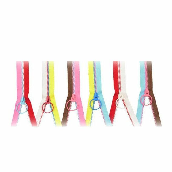 オルヌマンオリジナル ビスロンフリースタイルファスナー 120cm(3VS) ×3個 ピンク&水色
