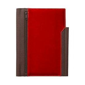 【まとめ買い3個】レザフェス ノートカバー A5タテ型 赤 1991LF