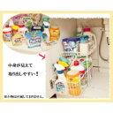 seiei 洗面台下収納ラック ホワイト / 中身が見えて取り出しやすい引き出しカゴ。