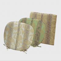 LN1415 川島織物セルコン 花とストライプ シートクッション 48×48 ベージュ 5112j / 川島織物オリジナル!