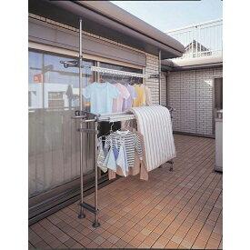 積水樹脂商事 ステンレスベランダ用ものほし台 スタンドポール DSL-10 / 寸法の長い洗濯物もベランダでタップリ干せる。