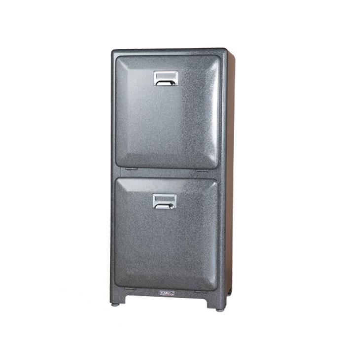 【 DULTON TRASH CAN DOUBLE DECKER H.GRAY 100-133GY 】 分別 ゴミ箱 ダストボックス インナーボックス おしゃれ シンプル キッチン ダルトン トラッシュカン ダブルデッカー グレー