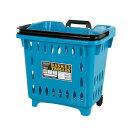 【 DULTON BASKET TROLLEY L.BLUE S359-49SB 】 トローリーバスケット 買い物かご カゴ 小物入れ アンティーク調 かわ…